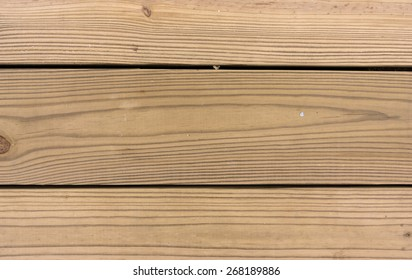 A very close view of pressure treated decking boards.