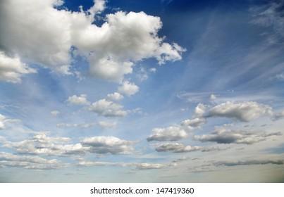 Very cloudy sky.