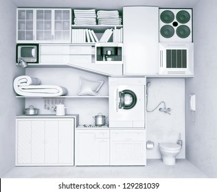 Charming Very Compact Flat ( Concept)