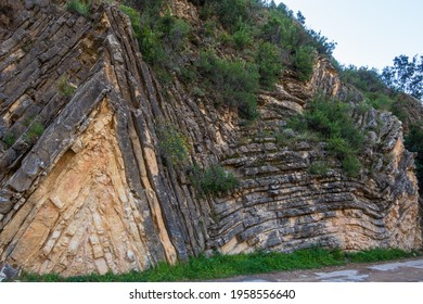Very curious geological formation called anticline, in Sot de Chera, Valencia (Spain).