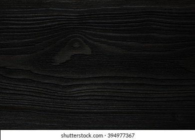 Very Dark Black Wood Texture Has Rough