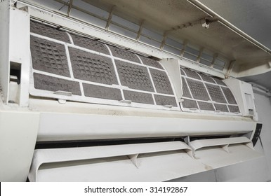 Very dirty air conditioner filter