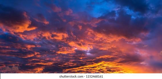 Very dramatic sky full of warm tones