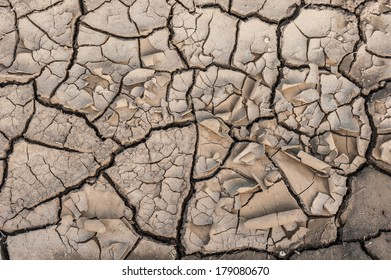 Very dry dirt creating interesting texture