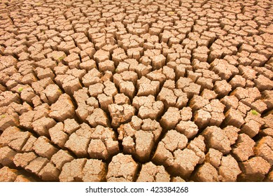 very dry soil texture background