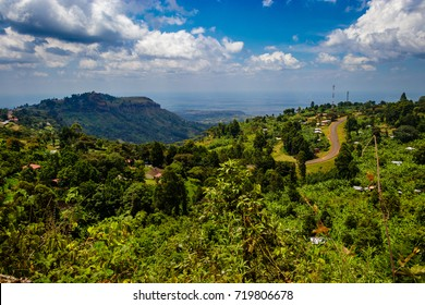 A very dusty road around the Sipi falls in the Mount Elgon national park in Uganda