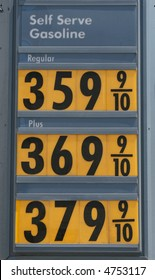 Very expensive gasoline.
