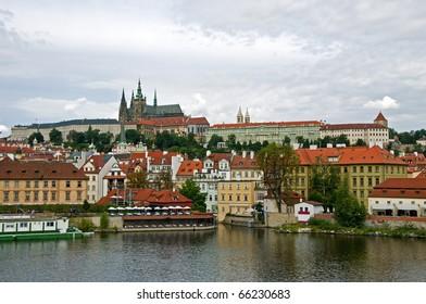 Very famous Prague Castle in Czech Republic