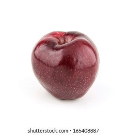 Very fresh and ripe apple isolated on a white background.
