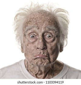 Very Fun Image of a Goofy acting Senior man