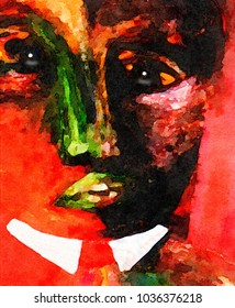 Very Fun Original Painting Image of a choir Boy
