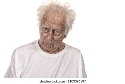Very Funny Senior man making Faces