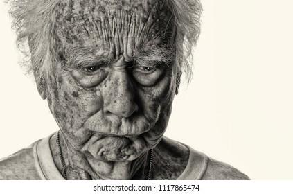Very Funny Senior man who makes Faces