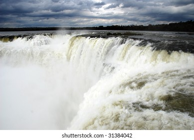 A very gloomy day at Iguazu Falls, Argentina
