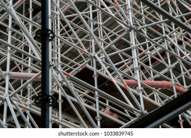 very great scaffolding for a new construction site