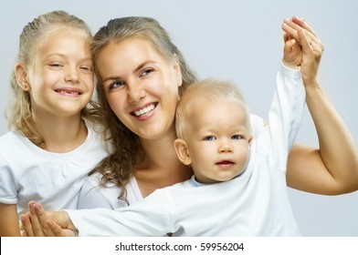a very happy nice family get together