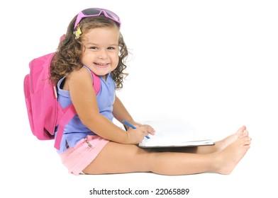 a very happy school kid