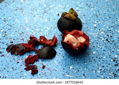 Very healthy and overripe mangosteen