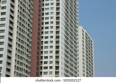 very high building with blue sky