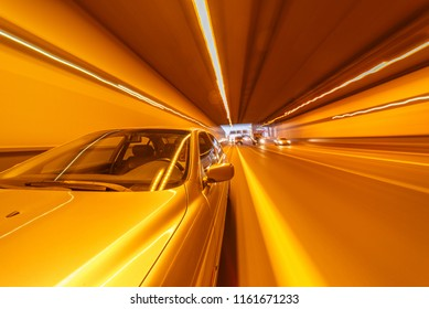 Very high speed drive through a tunnel