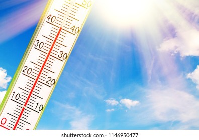 A very hot day in summer