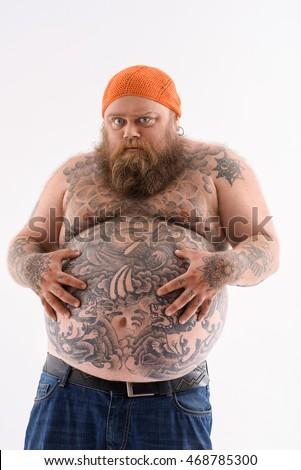 guy naked Fat