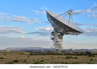 Very Large Array, New Mexico / USA - 16 July 2019 A small part of the Very Large Array radio astronomy observatory dish antennas located in central New Mexico.