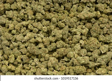 A very large Pile of retail trimmed weed