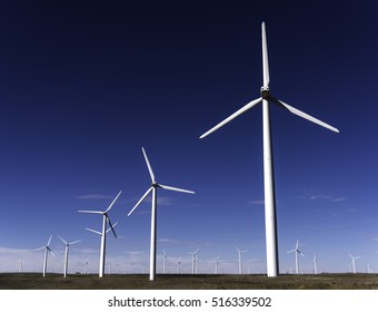 A very large wind farm in Northern Colorado next to Pawnee National Grasslands.