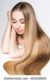 Very long beautiful shiny hair