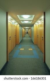 Very long corridor in a building