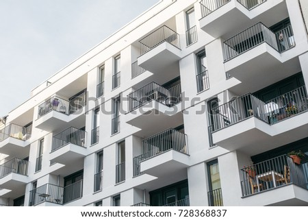 Great Very Modern Apartment Building With White Facade