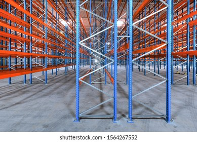 very new built steel high bay warehouse