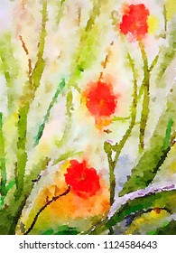A very nice Abstract watercolor painting On Paper