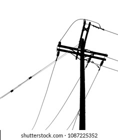very Nice Image of Powerlines In the City