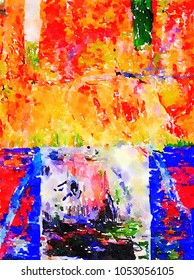 Very nice original Abstract painting On paper