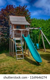 Very nice playhouse with swing and slide