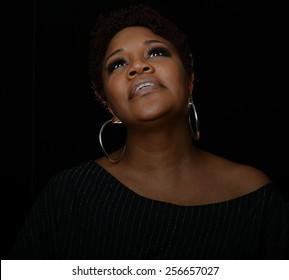 Very Nice Portrait of a Gospel Singer on Black