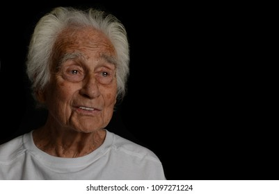 Very Nice portrait Of a successful senior man On Black