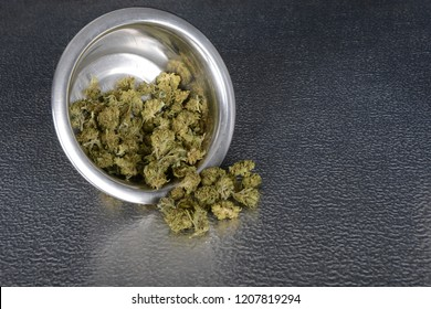 very Nice stainless bowl with weed Buds