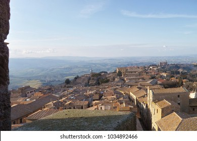 very nice view of volterra a medieval village in tuscany