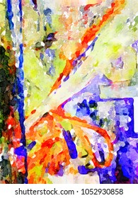 Very nice Watercolor Abstract painting On paper