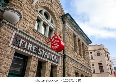 Very old building of the central fire station in Perth, Western Australia which was built in 1901.