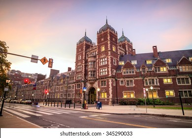 Very old building in University of Pennsylvania in Philadelphia, Pennsylvania