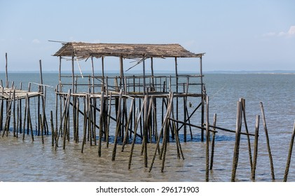 Very Old Dilapidated Pier in Fisherman Village, Comporta, Portugal
