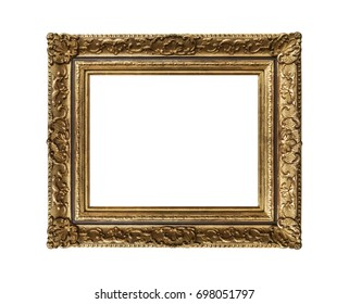 Very old frame isolated on white background.