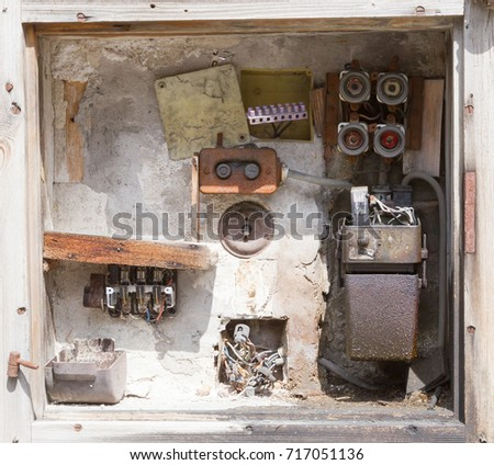 very old fusebox abandoned house stock photo edit now 717051136 very old fusebox in an abandoned house