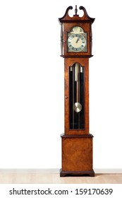 A very old grandfather clock stood the test of time.