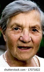 very old grandma (aging)