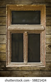 Very old grunged wooden window